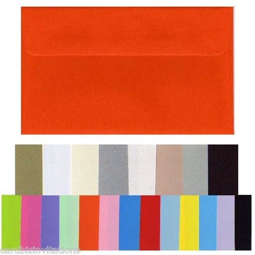 11B envelopes for RSVPs, smooth flat colours and metallics.