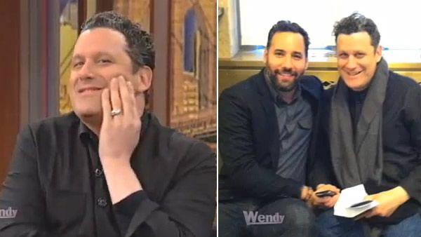 Isaac Mizrahi appears in a photo from Wendy Williams' show on January 4. His husband, Arnold Germer, appears with him in the photo on the right.