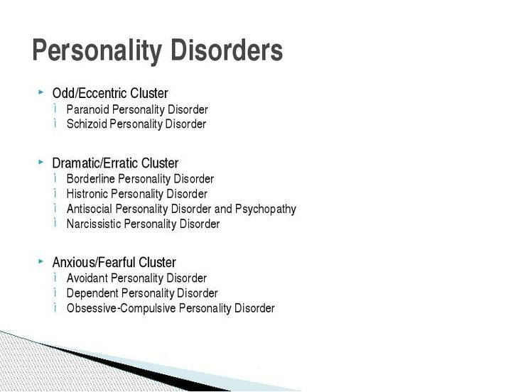 Personality Disorder Symptoms, Causes and Effects