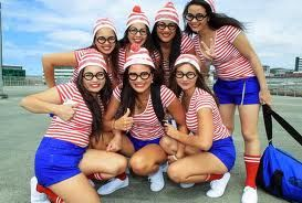 Where's Waldo?  A great way to dress up without being too OTT