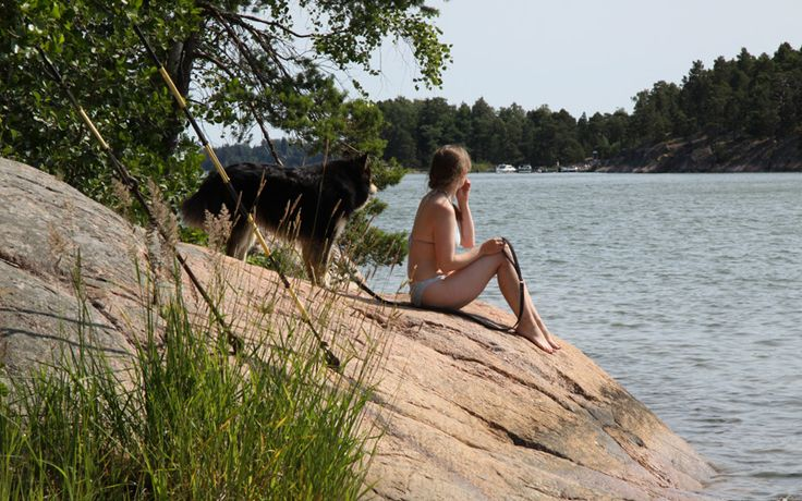 Enjoying the summer sun in the Archipelago near Helsinki, Finland:  http://www.kontikifinland.com/holidays/destination/1186945/sipoo/a-day-in-the-archipelago