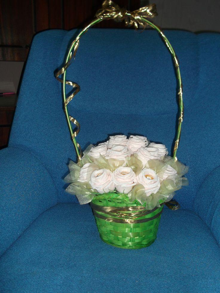 Sweet roses with Ferrero Rocher