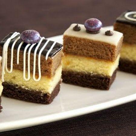 Triple Chocolate Petit Fours