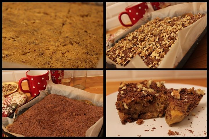 My walnut-mulled wine cake, it is so moist you don't know whether to drink it or eat it.
