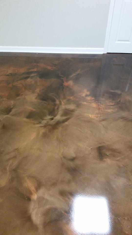 Brown Metallic Epoxy Flooring Dayton Ohio Ohio