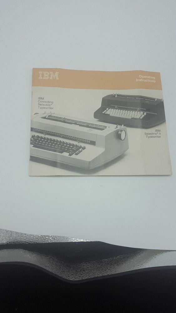 ibm selectric manual