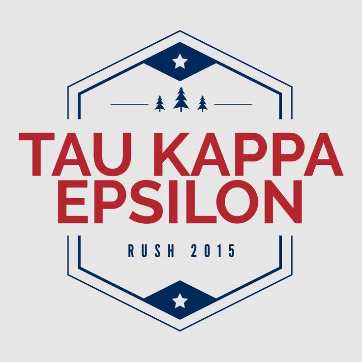 Tau Kappa Epsilon Badge Rush Design By College Hill Custom Threads // Sorority and Fraternity greek apparel and products!