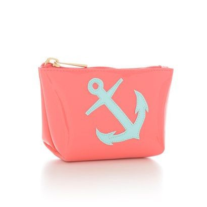 Watermelon Mini Avery  with Light Blue Anchor