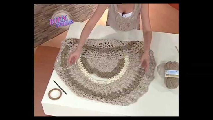 Mabel Gomez - Bienvenidas TV - Explica como hacer un hermoso Chaleco Cir...