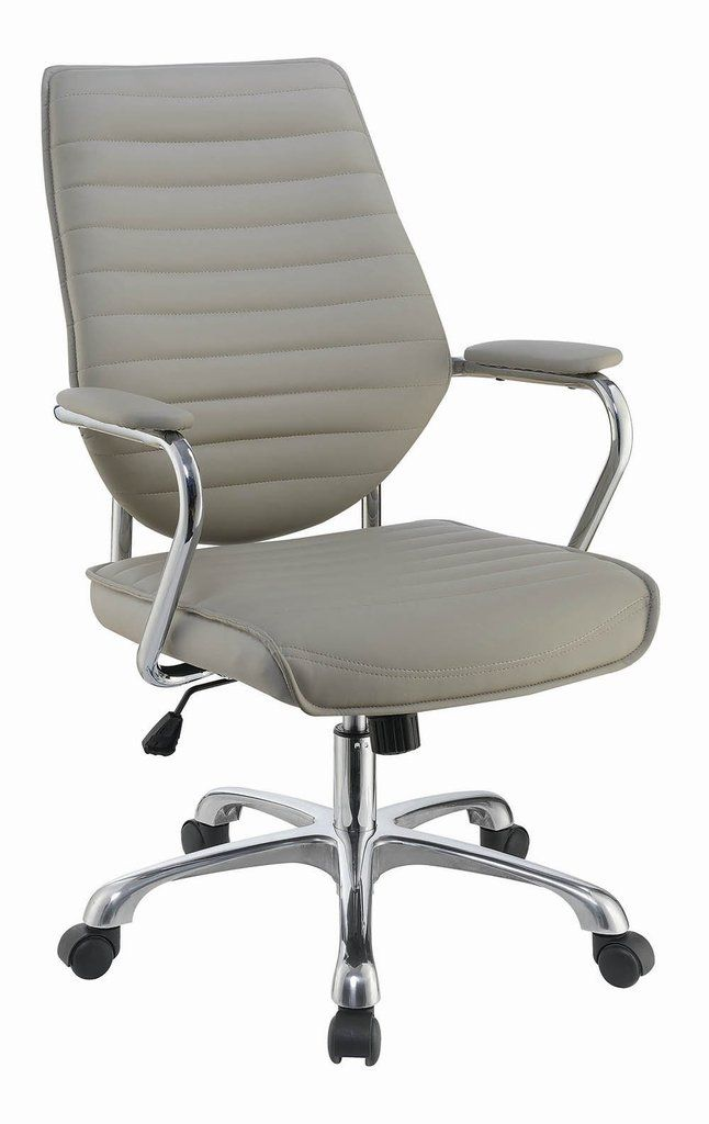 Aluminum Office Chair Beige Coaster Adjustable Office Chair