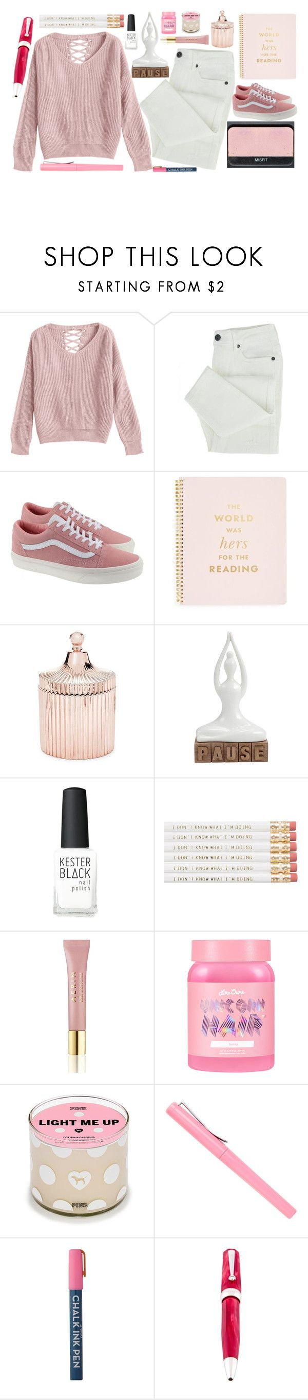 """""""xxiv. ITS OUR PROBLEM FREE PHILOSOPHY HAKUNA MATATA"""" by not-an-apology ❤ liked on Polyvore featuring NARS Cosmetics, Vans, Kate Spade, Saks Fifth Avenue, Kester Black, AERIN, Lime Crime and Montegrappa"""