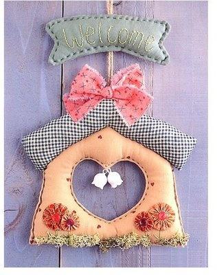 Fabric bird house