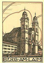 Alte Ansichtskarte von St. Michael München-Berg am Laim