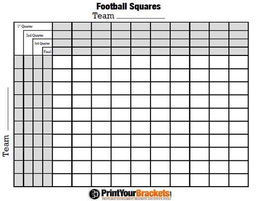 9 best FOOTBALL SQUARES images on Pinterest Squares, Super bowl