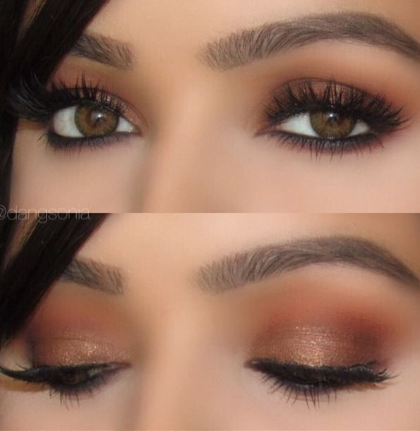 Vibrant true bronze with gold and violet glitter. This shade will bring all the boys to the bar!!