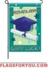 Good Luck Graduate Garden Flag - 9 left