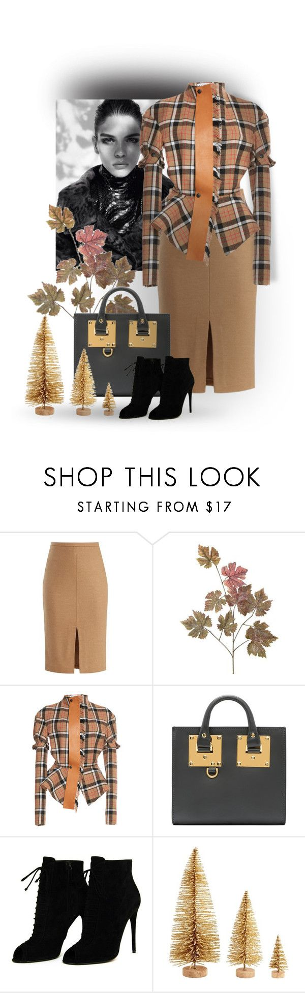 """Plaid jacket"" by gagenna ❤ liked on Polyvore featuring Trilogy, MaxMara, Loewe, Sophie Hulme, Tom Ford, plaid and pencilskirt"