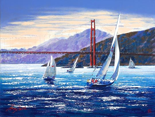 "Kerry Hallam ""Golden Gate Sunset"""