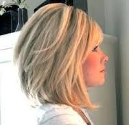 a line bob haircuts for round faces - Google Search
