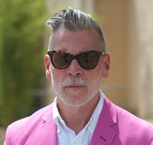 Nick Wooster Gray Pompadour Hair