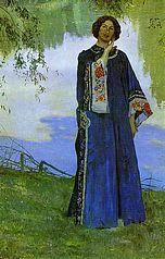 Mikhail Nesterov - Portrait of Ekaterina Nesterova, 1906