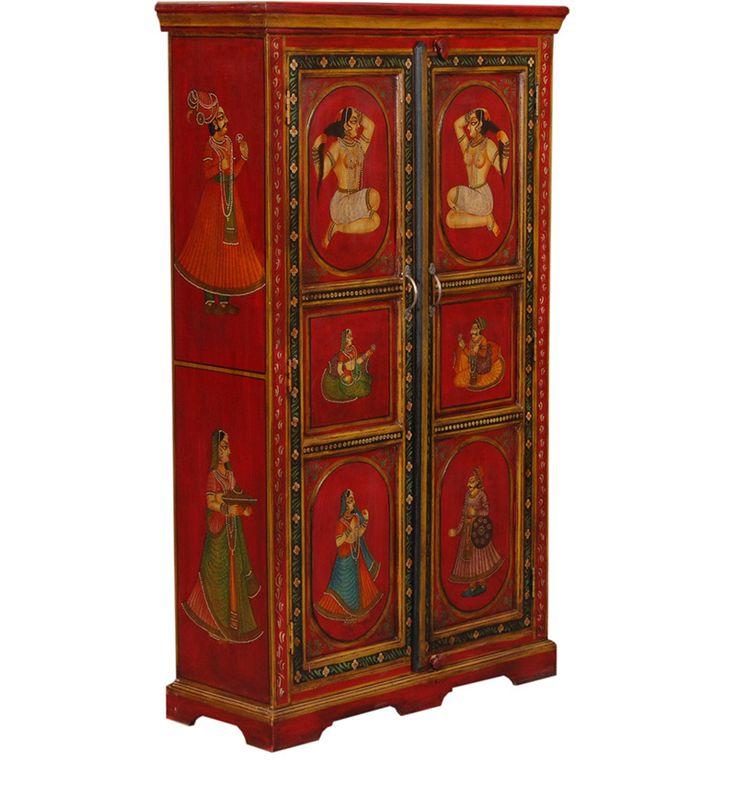 Armadio Due Porte Sheesham Legno WD-6026152 X 88 X 35 CM   Arts of India – Italy