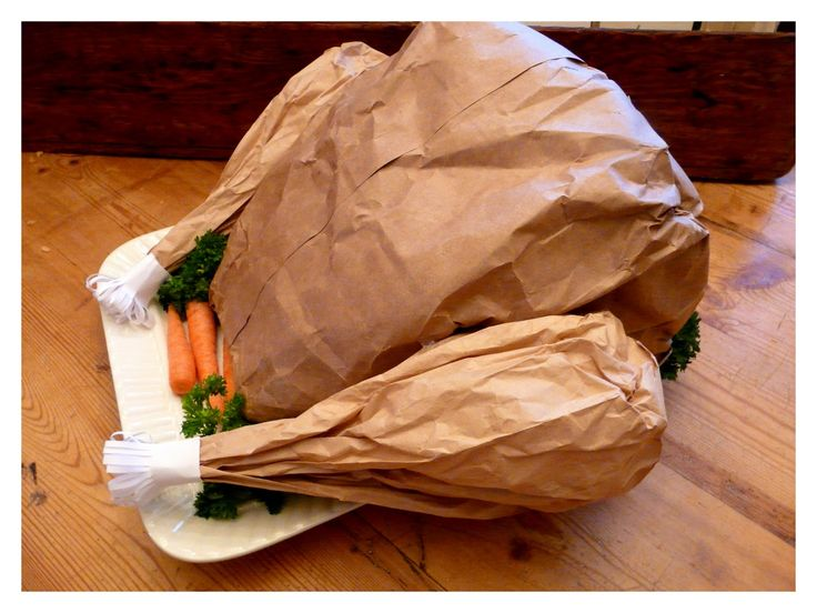 Paper Bag Turkey stuffed with popcorn for the classroom or kids' table
