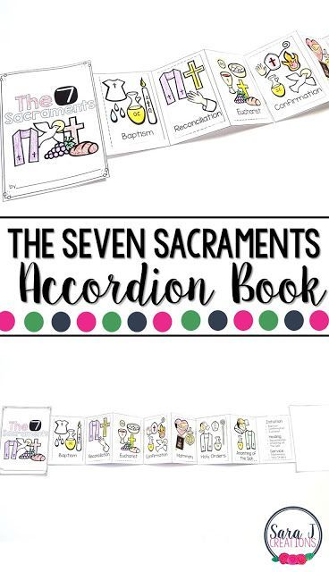 The Seven Sacraments (Catholic) printable mini book is the perfect activity for kids so that they can learn more about each sacrament that is so important to our faith.