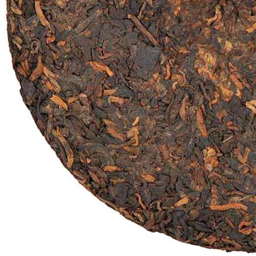 """Delicious Ripe Puer Tea Cake """"908 Lao Tong Zhi"""", 1-2 years old, produced in Yunnan province, China."""