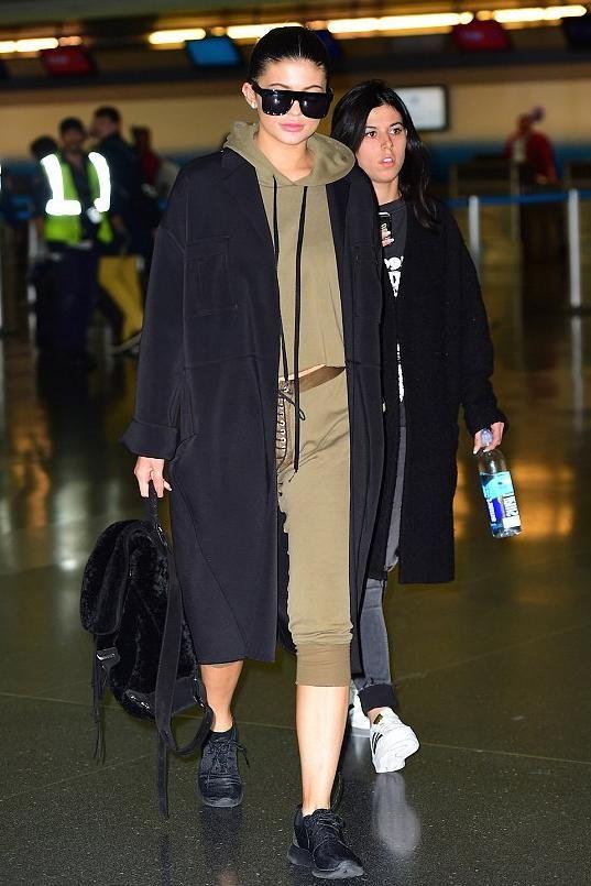 Kylie Jenner wearing Celine Original 1732 Sunglasses, Nike Roshe ...