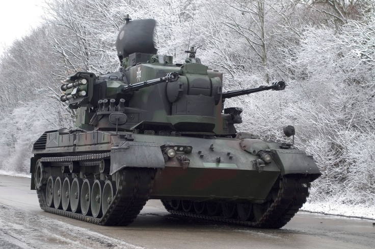 German 50 Mm Anti Tank Gun: Flakpanzer Gepard Self-Propelled Anti-Aircraft Gun