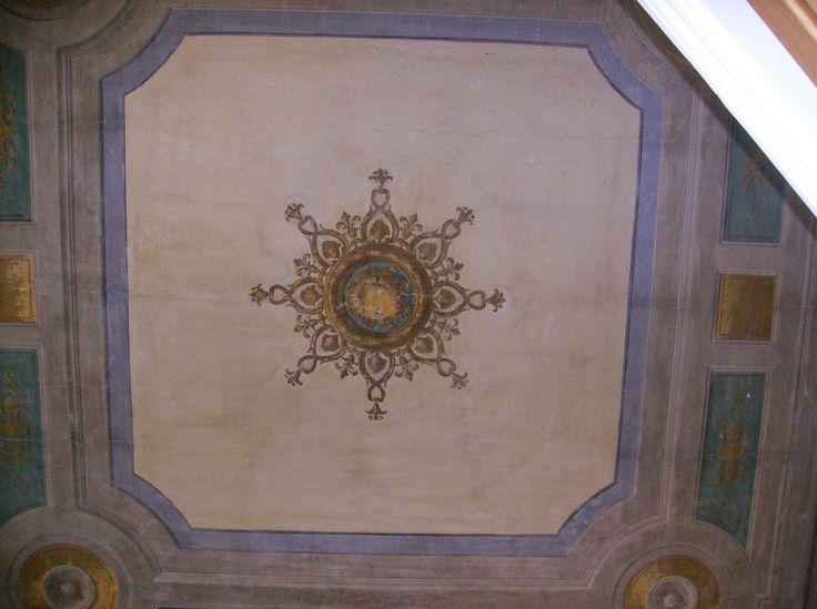 Restauro soffitto,pigmenti e terre naturali,Roma