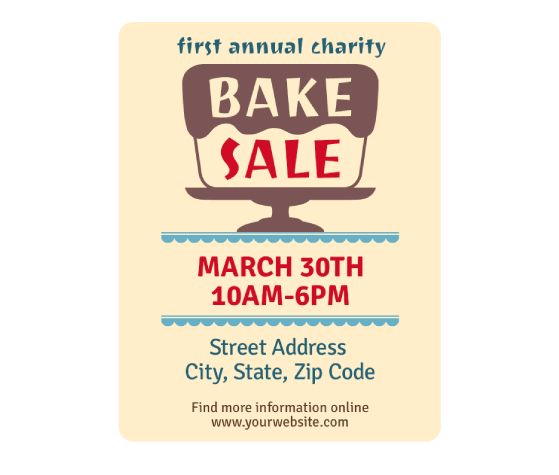 Best Bake Sale Poster Ideas Images On   Sale Poster