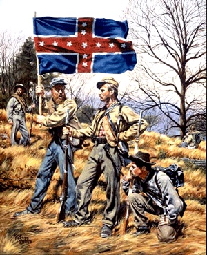 1st TN Infantry Polk battle flag Army of Tennessee