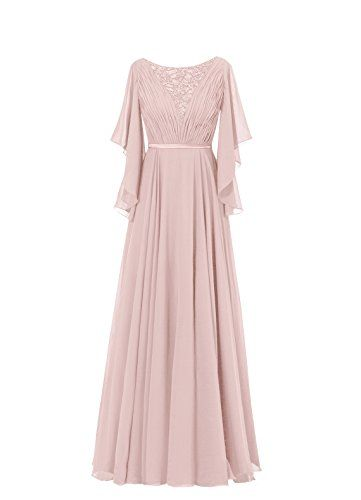 Diyouth Ruffles Sleeves Pleated Long Beading Mother of the Bride Dress Dusty Rose Size 2 Diyouth http://www.amazon.com/dp/B00U1EMM6U/ref=cm_sw_r_pi_dp_DqElvb0W7B2YC