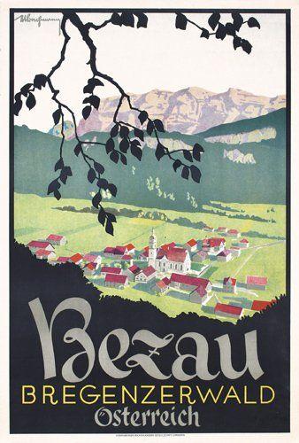 Vintage Travel Poster - Bezau - Bregenzerwald - Vorarlberg - Austria.