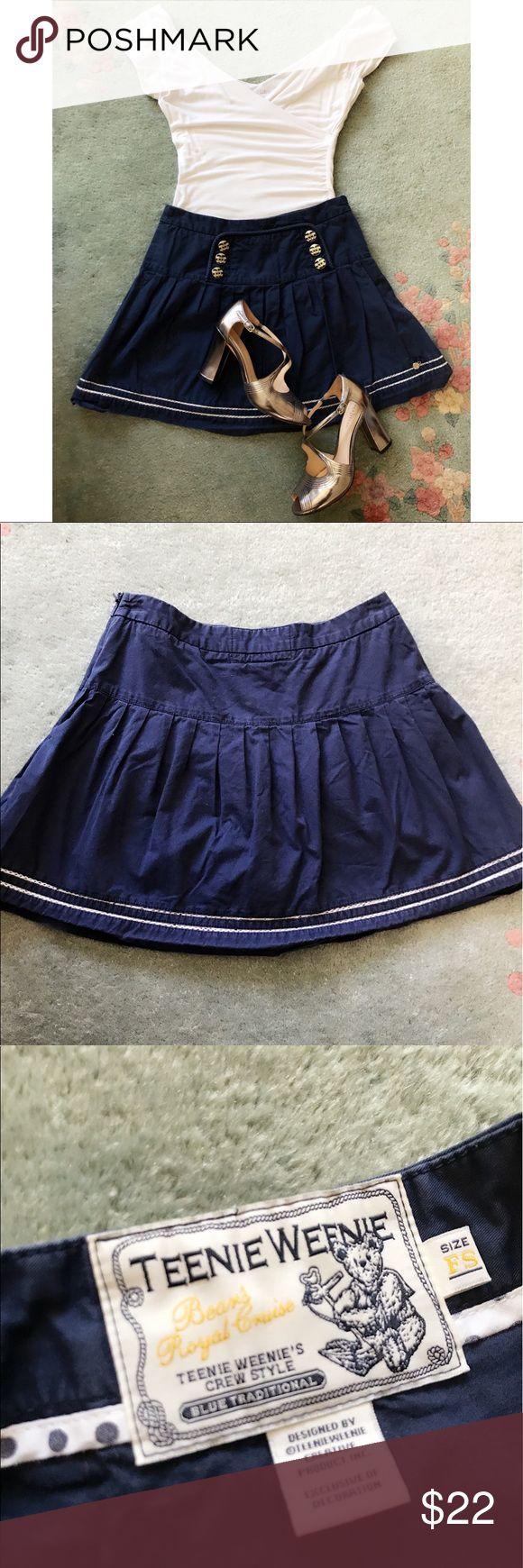 Teenie Weenie nautical skirt with build in shorts EUC. teenie weenie Skirts Mini