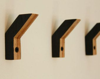 Pinewood wall hook by MAATALO on Etsy