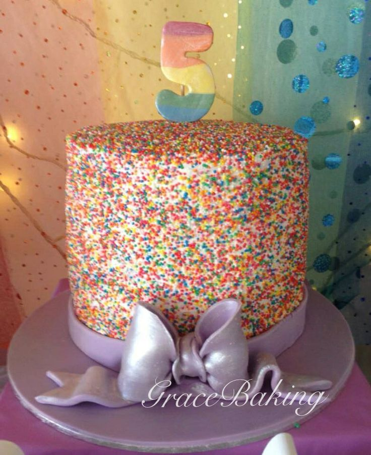 Sprinkle Rainbow Cake by Grace Baking