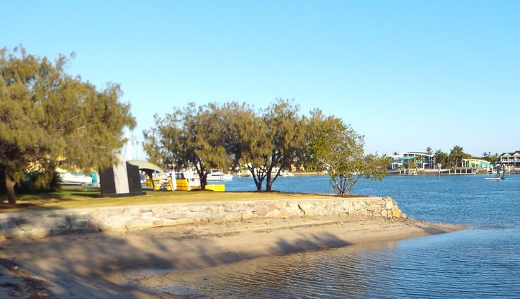 Christmas Cove is part of the Penny Lane park by the canals off parkyn Parade. Picnic tables nearby.