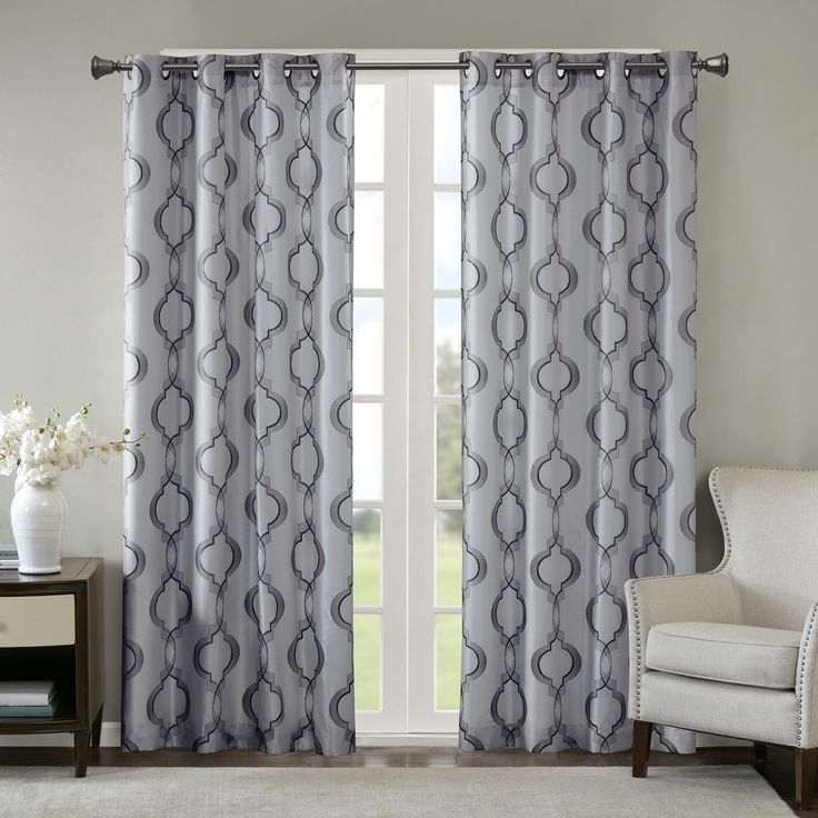 Madison Park Della Faux Silk Curtain Panel | Overstock.com Shopping – The Best Deals on Curtains