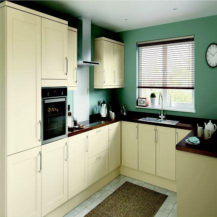 Homebase Hygena Cavell Cream Shaker Kitchen.  Kitchen-compare.com - Home - Independent Kitchen Price Comparisons
