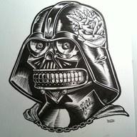 . #starwars: Darthvader Calavera, Darth Vader, Illustration, Star Wars, Darth Calavera, Tattoo, Drawing, Starwars