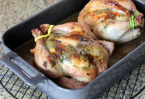 Cornish Hens With Cilantro Butter - Cornish Hens Image © Diana Rattray