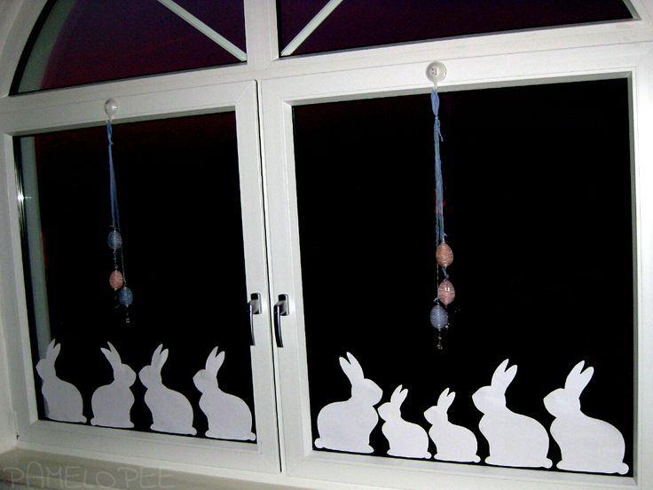 Window-Bunnys – Meine Fensterdeko für Ostern – #Fensterdeko #fuer #Meine #Oster…