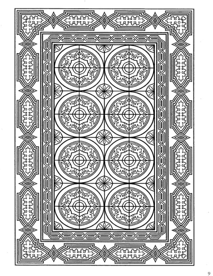 42 best Coloring pages to print - Decorative Tile Designs ... - photo#5