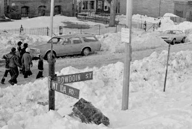 Blizzard of 1978 - Dorchester (Boston), MA I remember climbing into my mother's car at that exact spot the day before the blizzard because my mother pulled me from school early because she sensed a big storm coming.