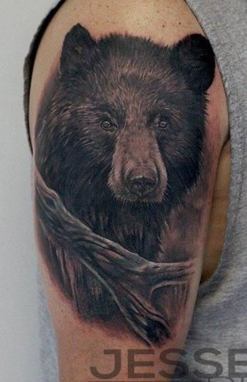 Jesse Rix - Black Bear Tattoo. Wow.