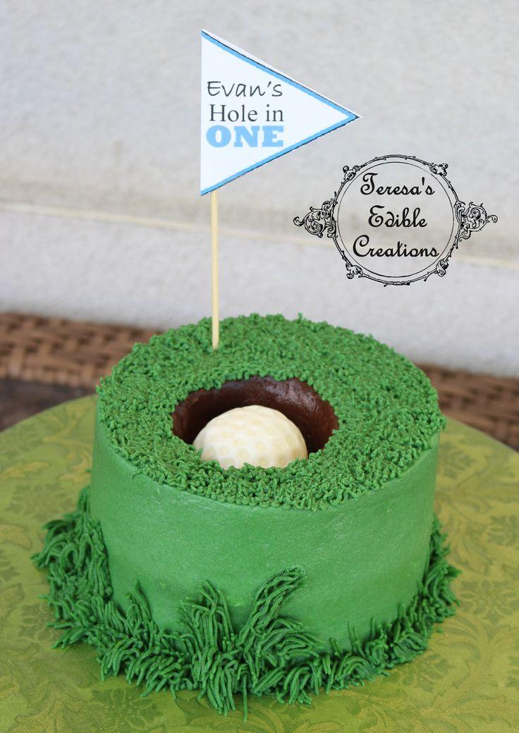 Golf hole in one smash cake