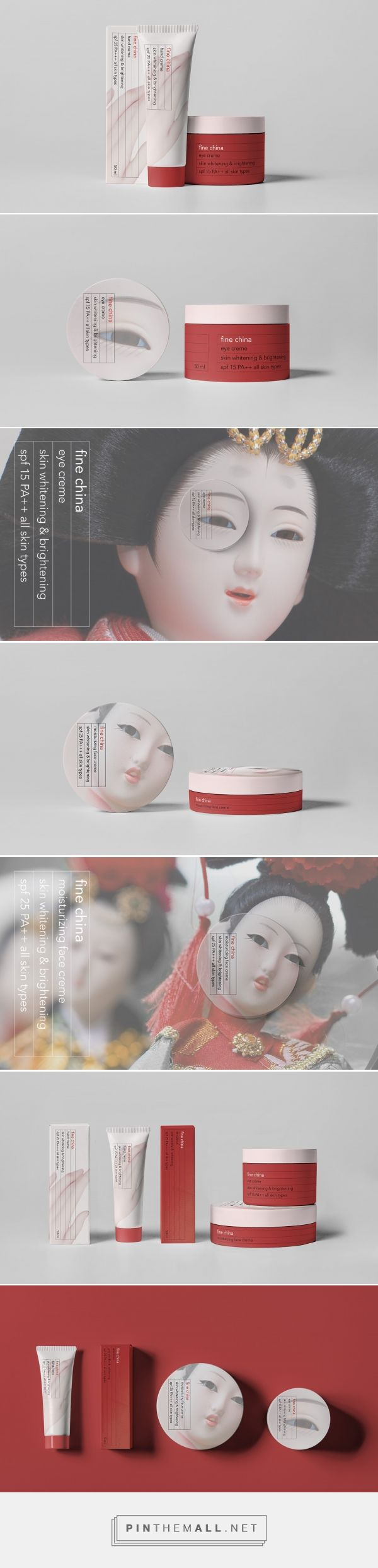 Fine China skin care packaging design by Yulya Ratnikova - http://www.packagingoftheworld.com/2018/01/fine-china.html